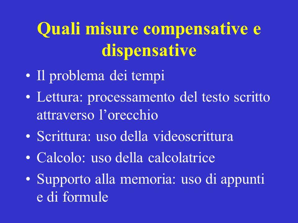 Quali misure compensative e dispensative