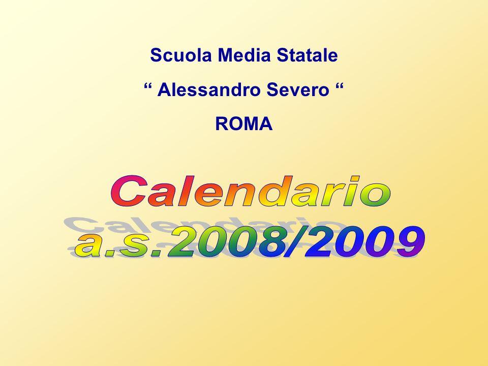 Calendario a.s.2008/2009 Scuola Media Statale Alessandro Severo