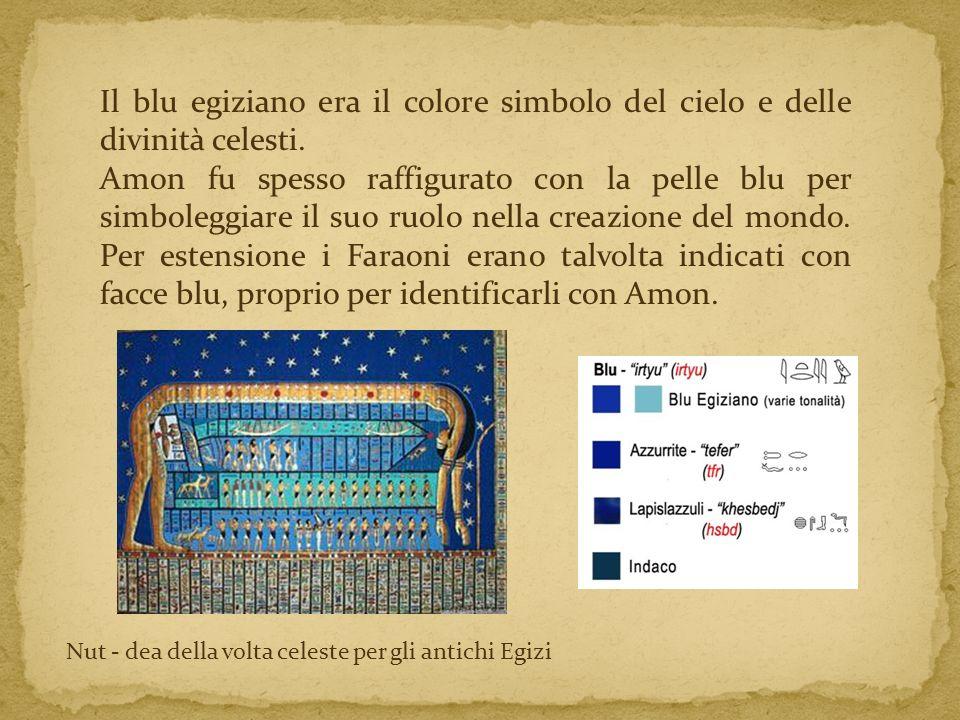 Il blu egiziano era il colore simbolo del cielo e delle divinità celesti.