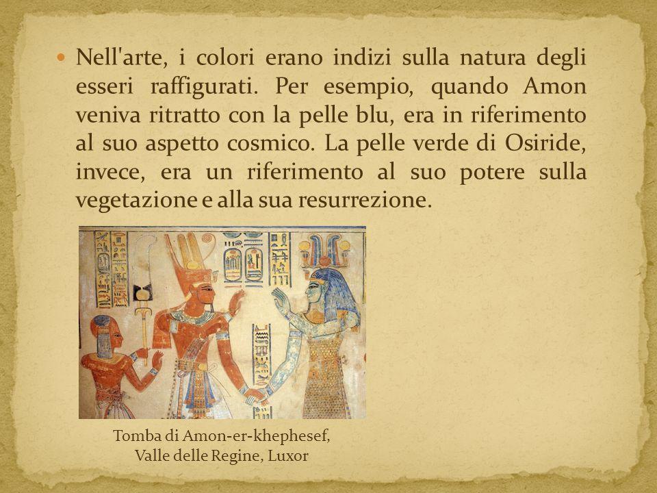 Nell arte, i colori erano indizi sulla natura degli esseri raffigurati