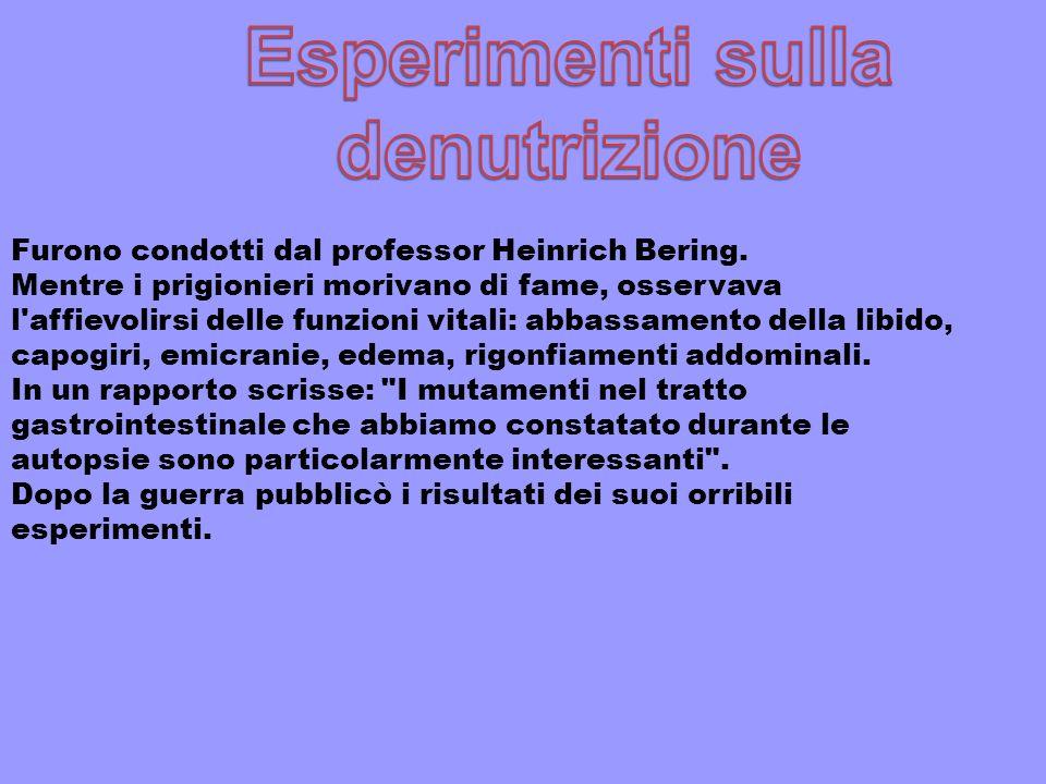Esperimenti sulla denutrizione
