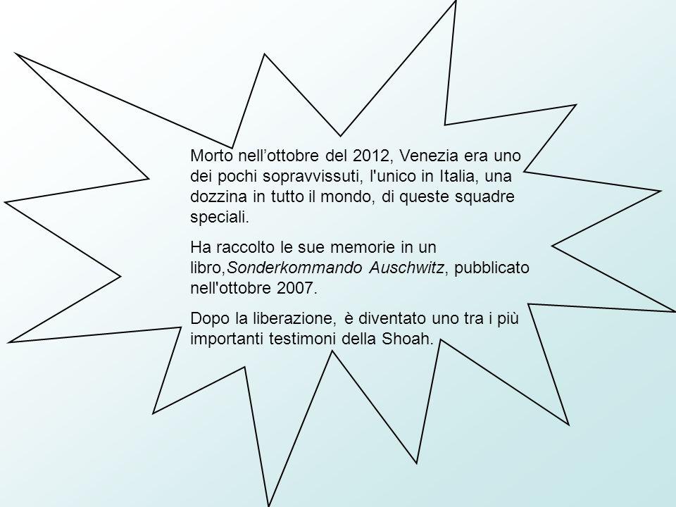 Morto nell'ottobre del 2012, Venezia era uno dei pochi sopravvissuti, l unico in Italia, una dozzina in tutto il mondo, di queste squadre speciali.