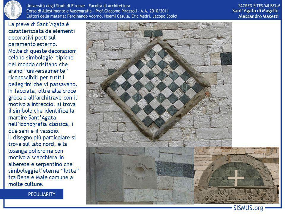 Sant'Agata di Mugello Alessandro Masetti. La pieve di Sant'Agata è caratterizzata da elementi decorativi posti sul paramento esterno.