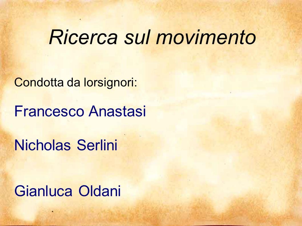 Ricerca sul movimento Gianluca Oldani