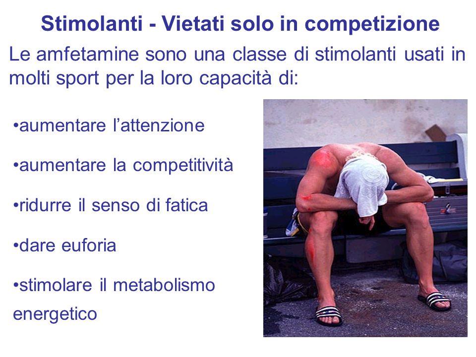 Stimolanti - Vietati solo in competizione