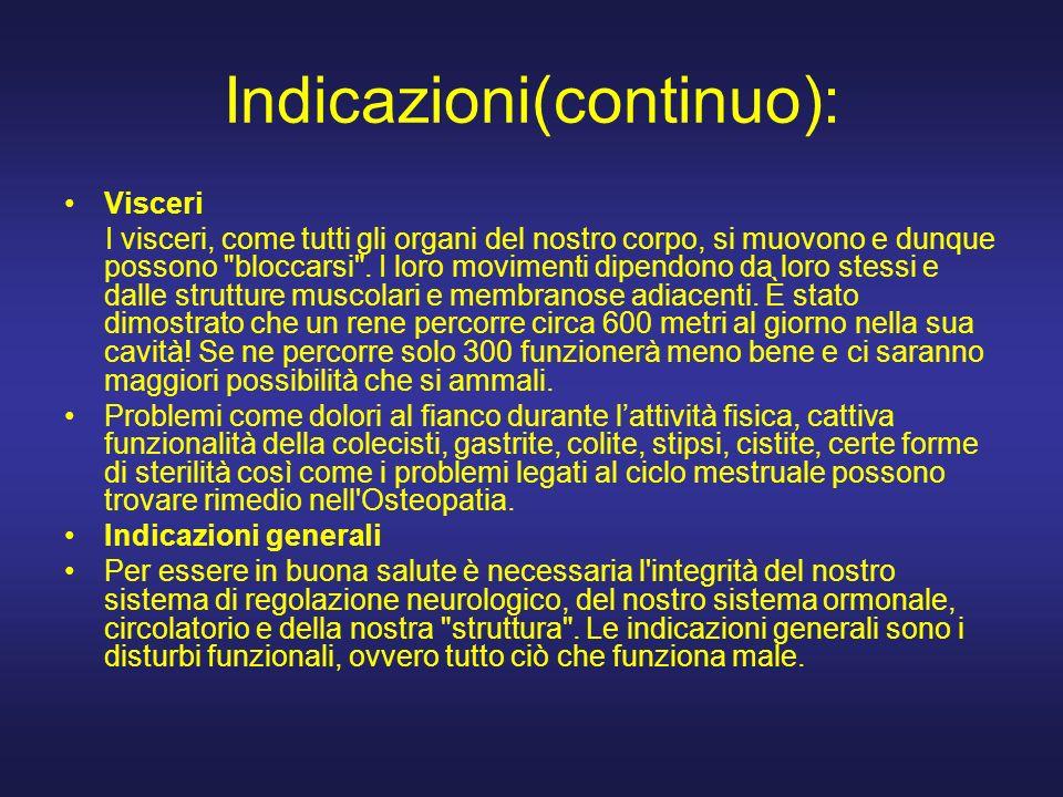 Indicazioni(continuo):