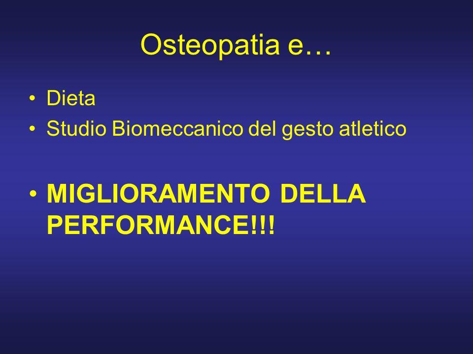Osteopatia e… MIGLIORAMENTO DELLA PERFORMANCE!!! Dieta