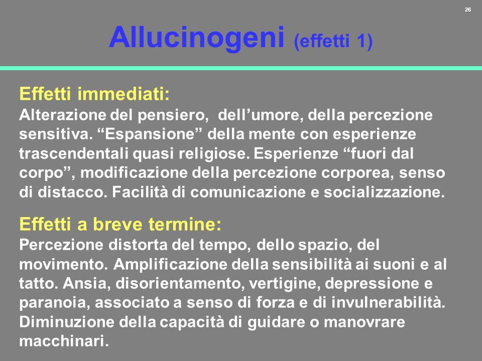 Allucinogeni (effetti 1)