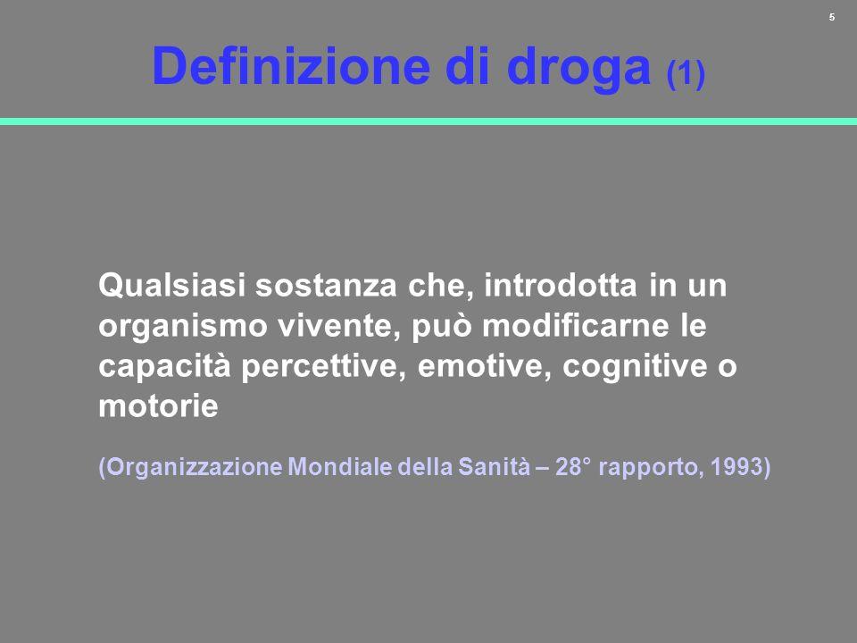 Definizione di droga (1)
