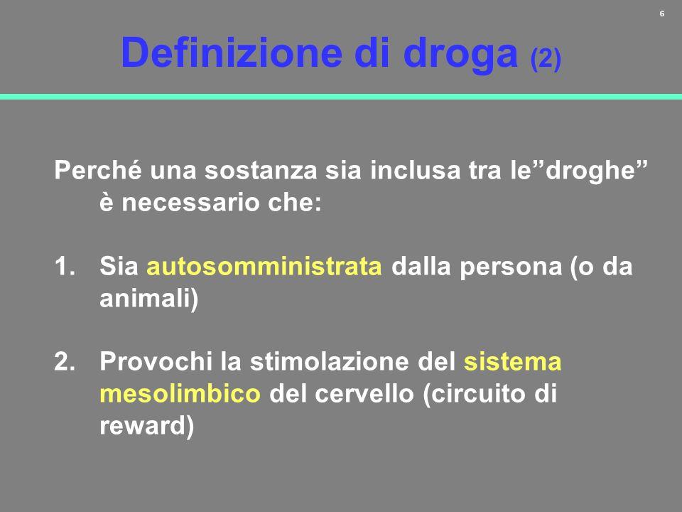 Definizione di droga (2)