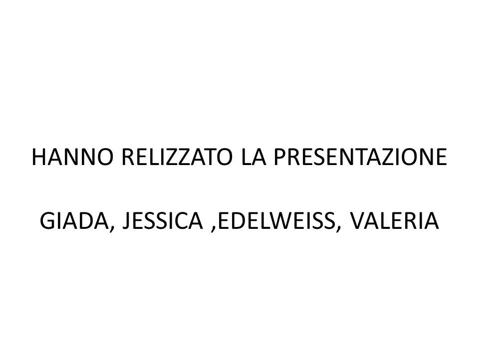 HANNO RELIZZATO LA PRESENTAZIONE GIADA, JESSICA ,EDELWEISS, VALERIA