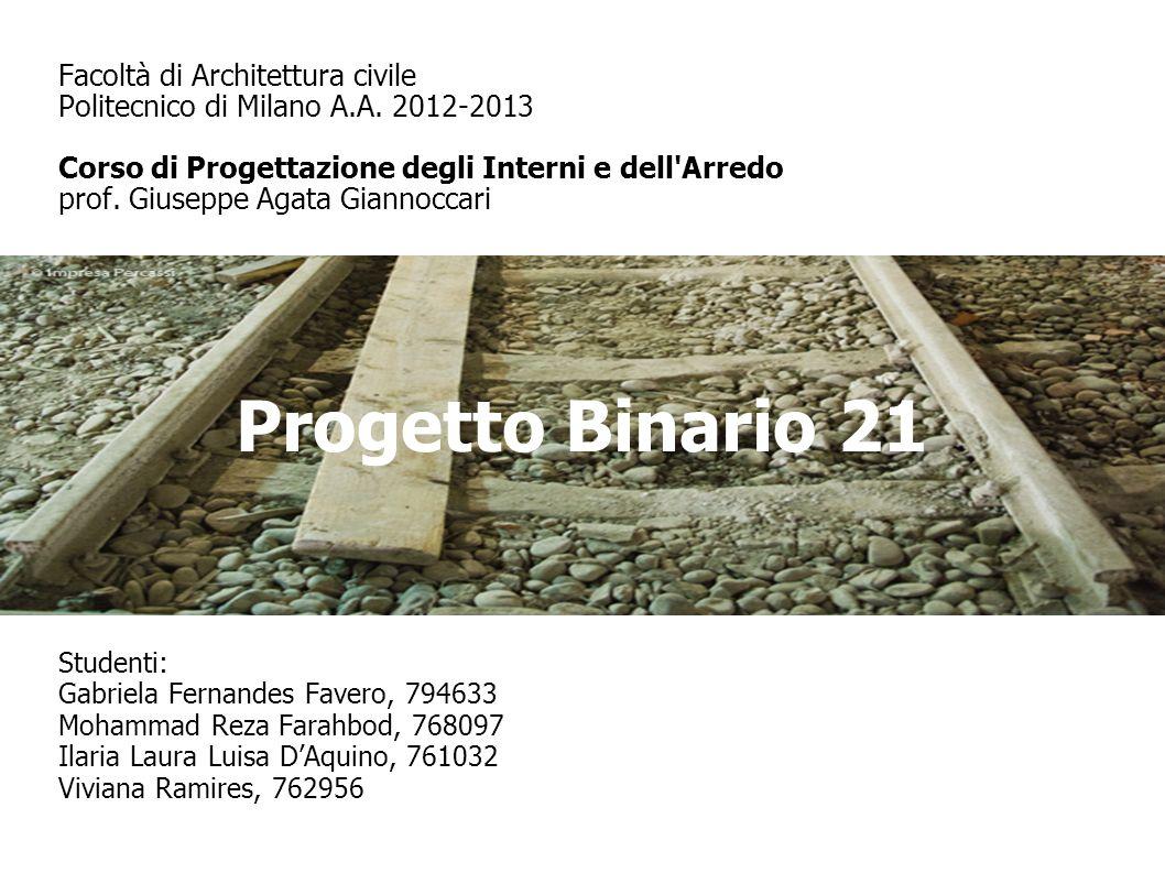 Progetto Binario 21 Studenti: Gabriela Fernandes Favero, 794633