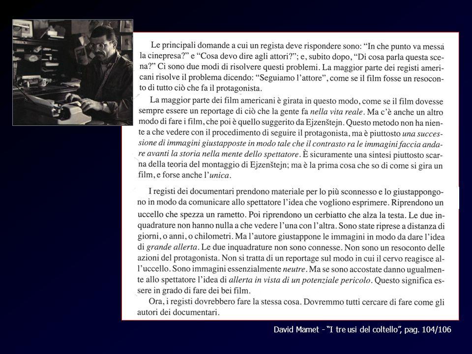 David Mamet - I tre usi del coltello , pag. 104/106
