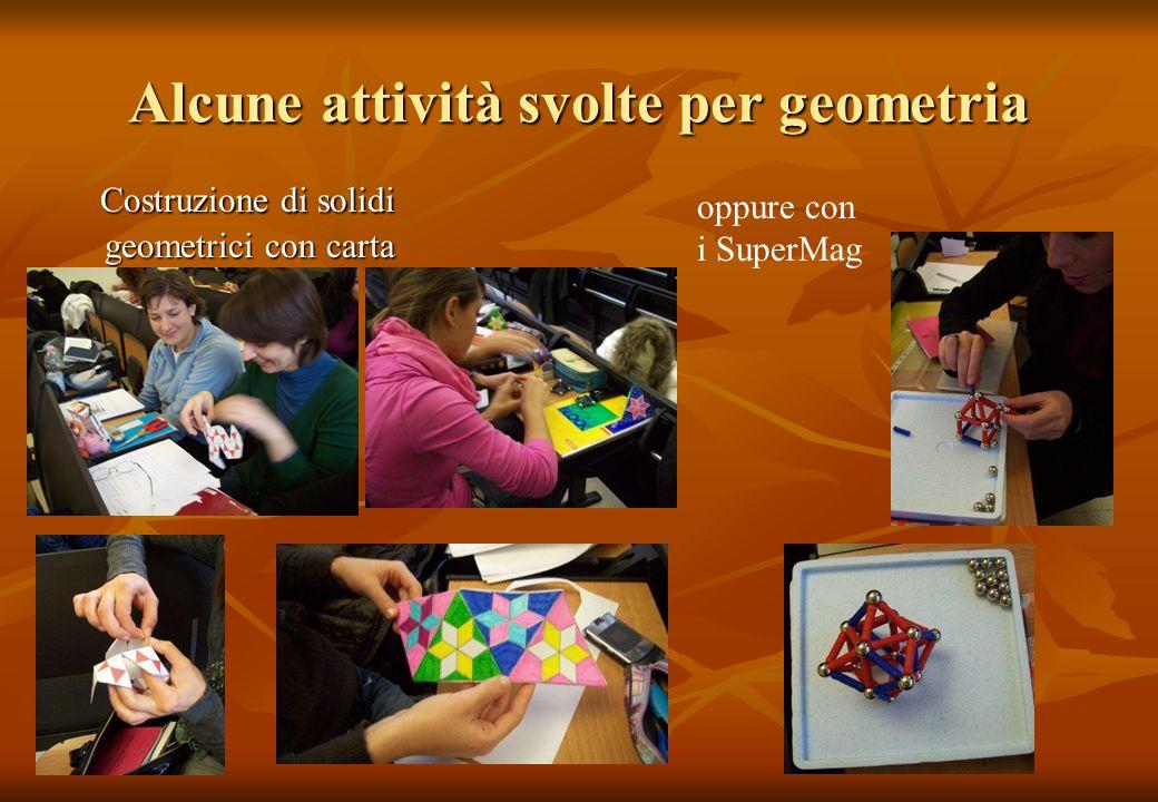 Alcune attività svolte per geometria