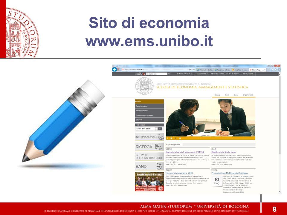 Sito di economia www.ems.unibo.it