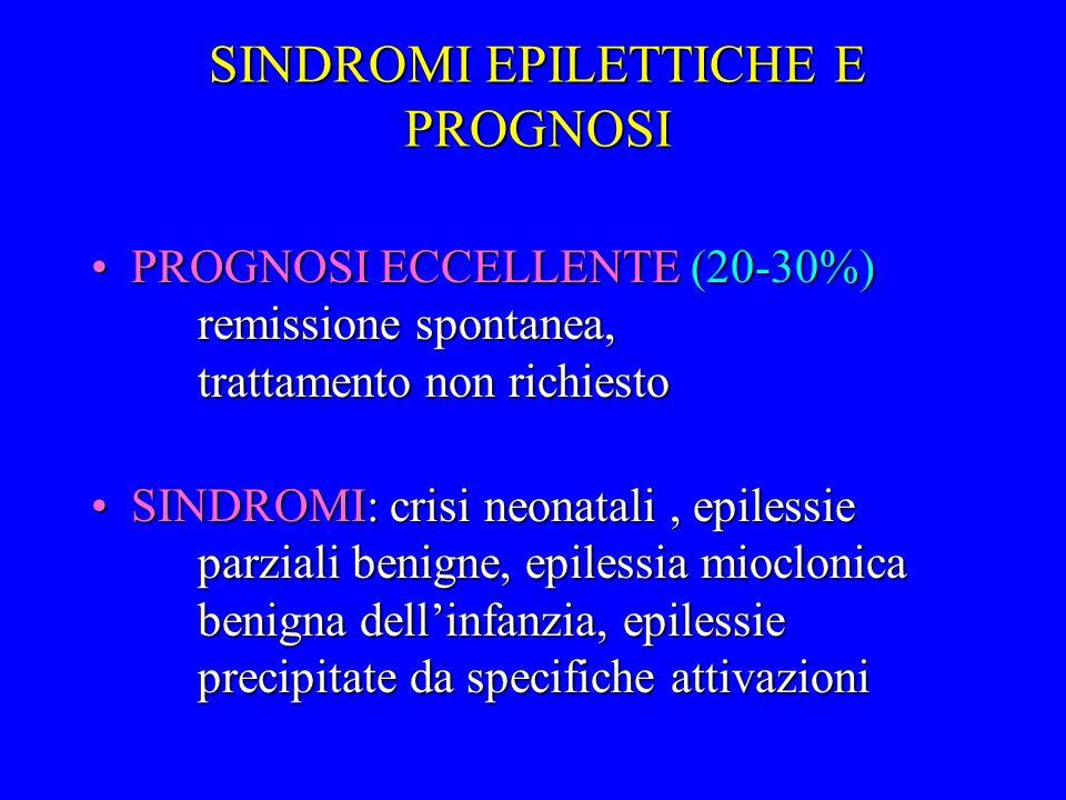 SINDROMI EPILETTICHE E PROGNOSI
