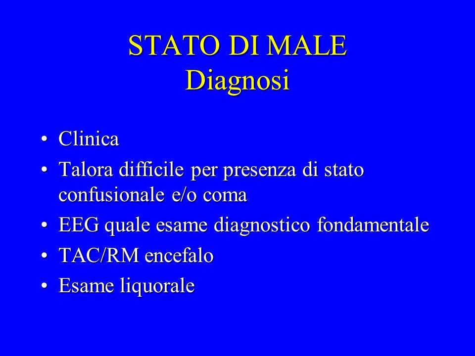 STATO DI MALE Diagnosi Clinica