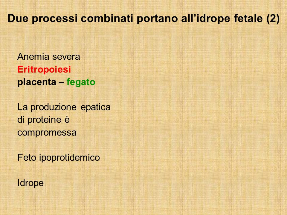 Due processi combinati portano all'idrope fetale (2)