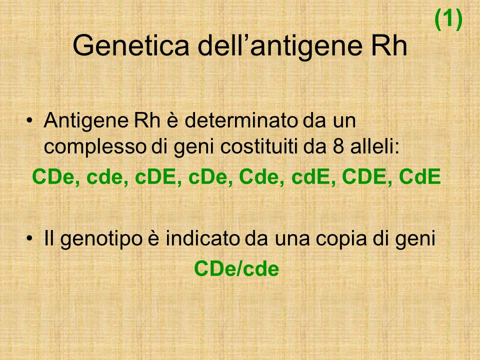 Genetica dell'antigene Rh