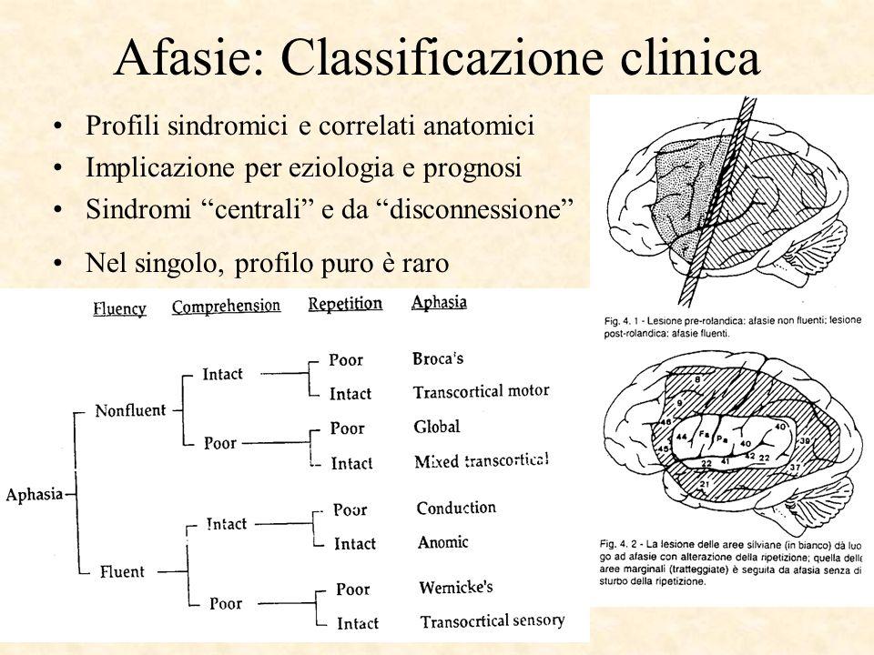 Afasie: Classificazione clinica