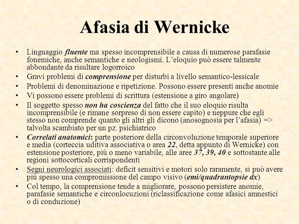 Afasia di Wernicke