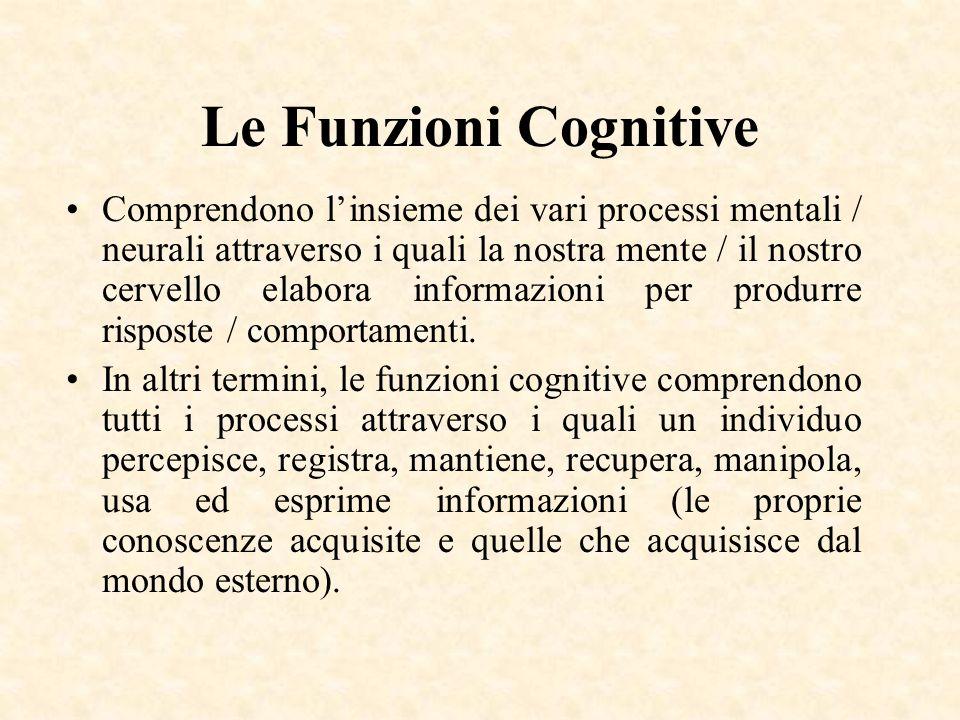 Le Funzioni Cognitive