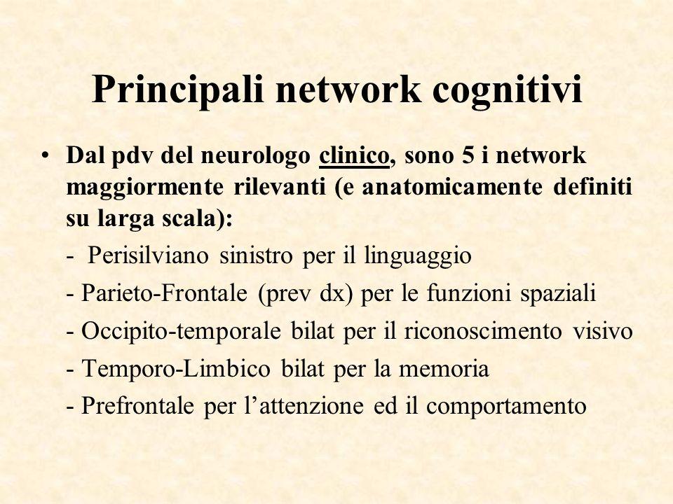 Principali network cognitivi