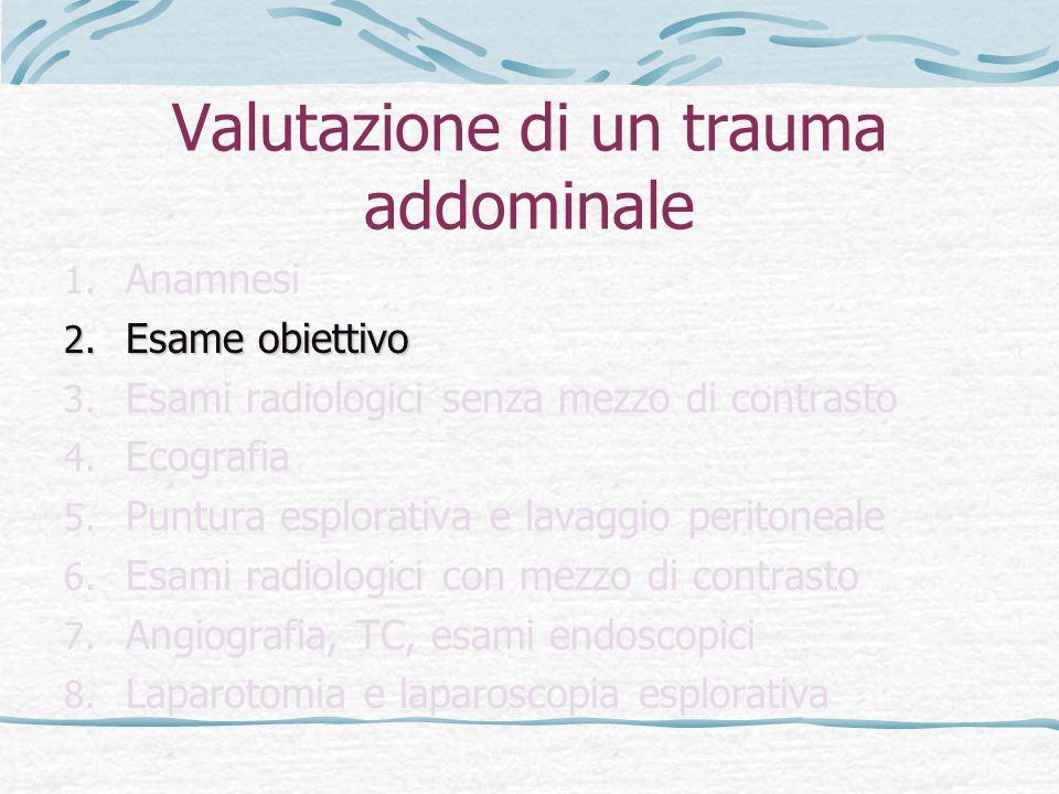 Valutazione di un trauma addominale