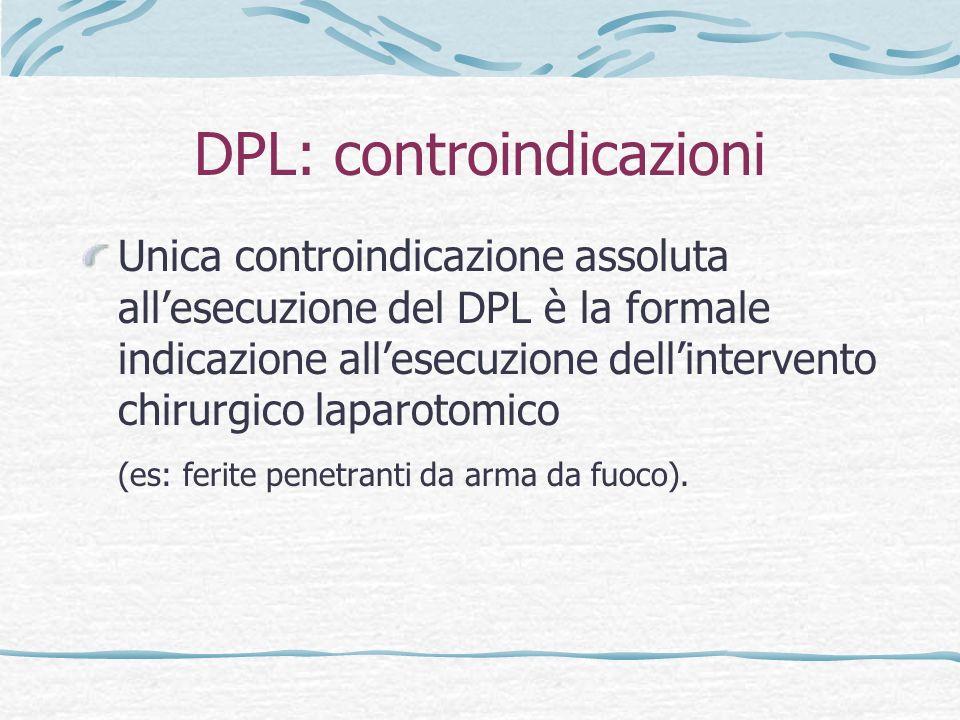 DPL: controindicazioni