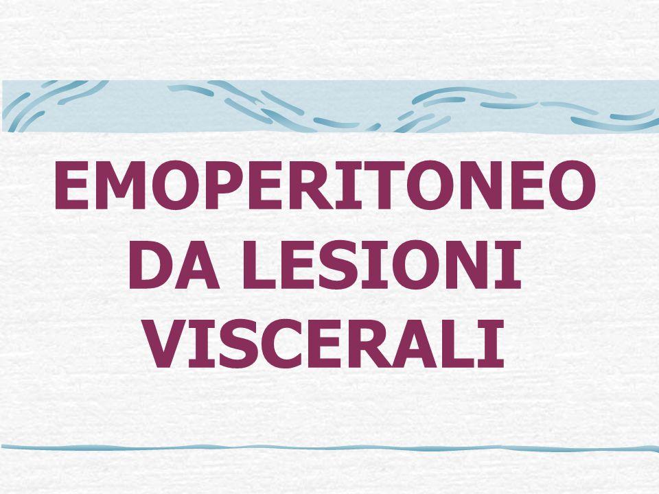 EMOPERITONEO DA LESIONI VISCERALI