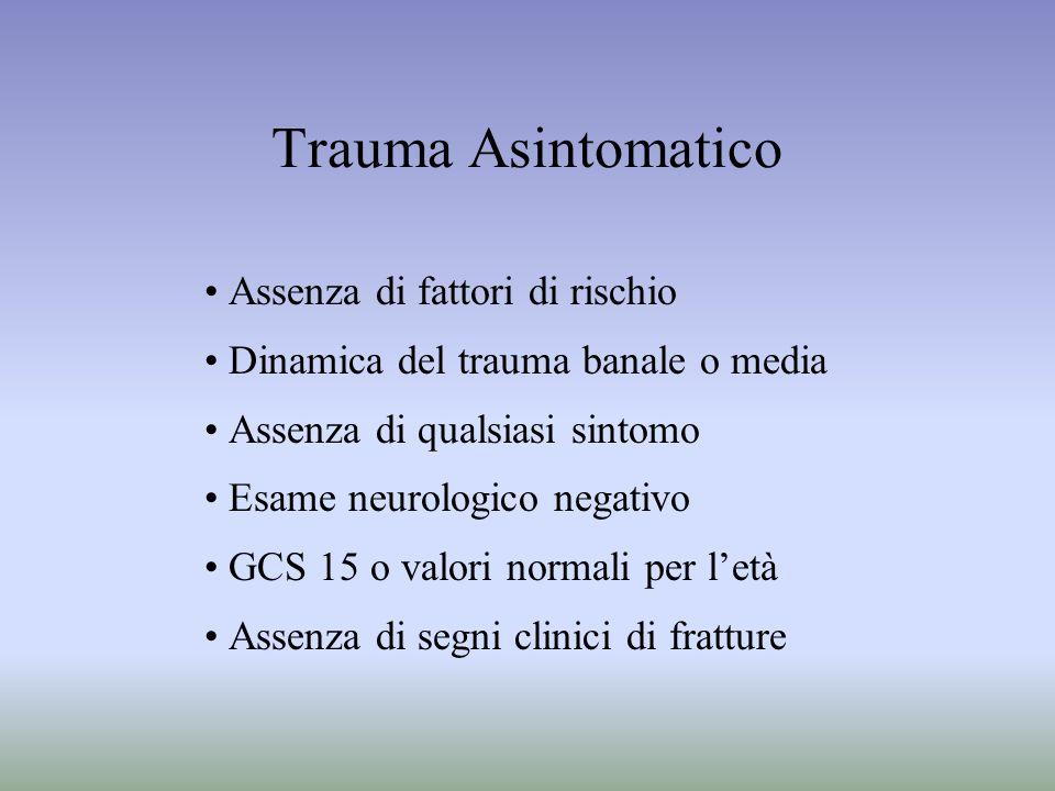 Trauma Asintomatico Assenza di fattori di rischio
