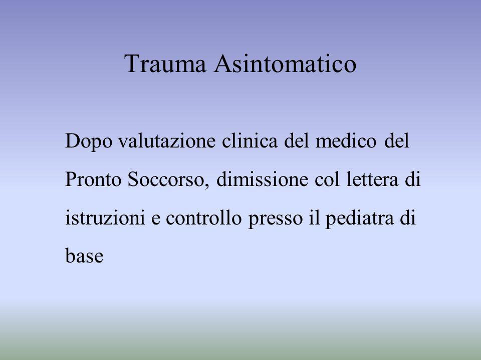Trauma Asintomatico Dopo valutazione clinica del medico del