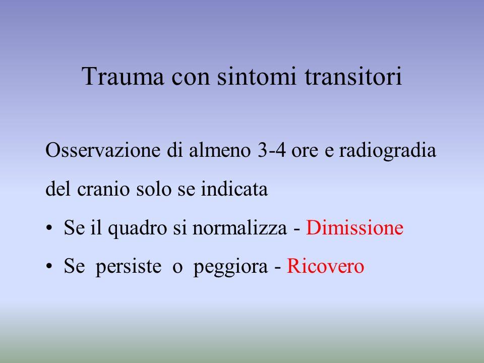 Trauma con sintomi transitori