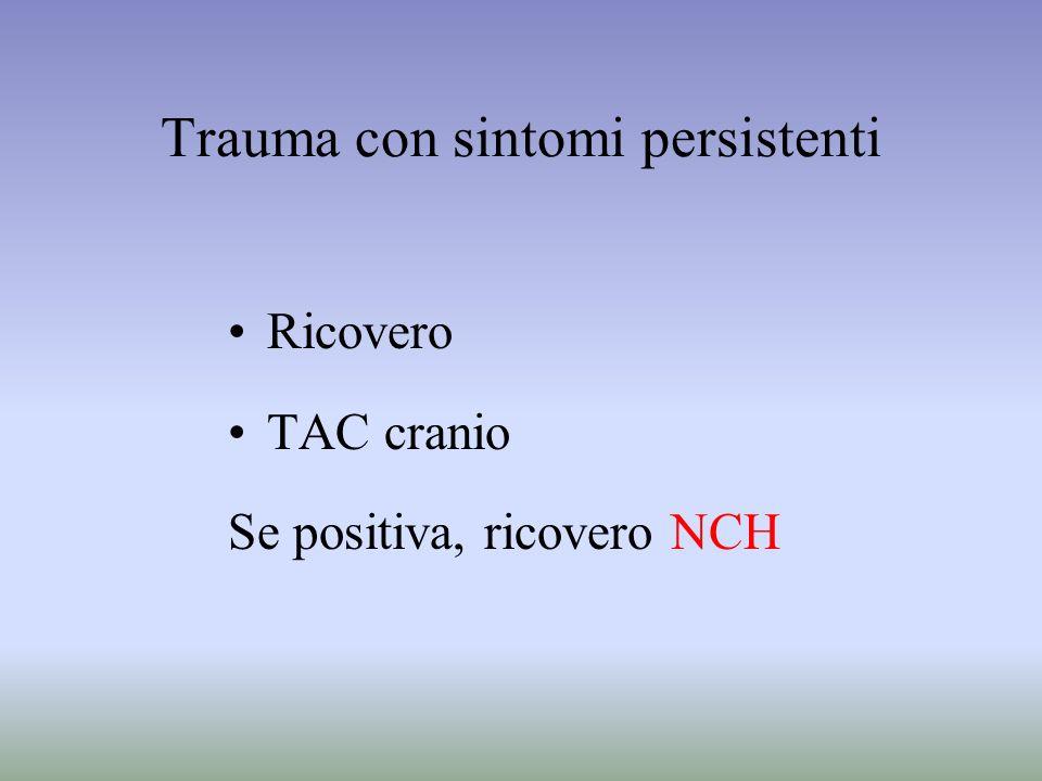 Trauma con sintomi persistenti