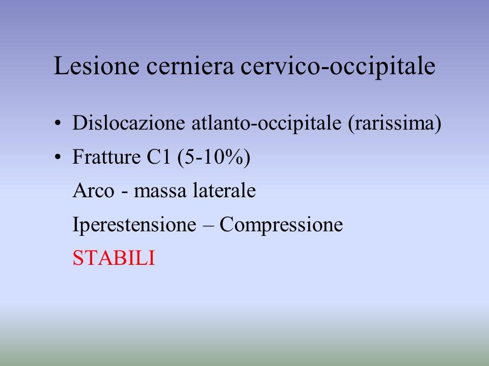 Lesione cerniera cervico-occipitale