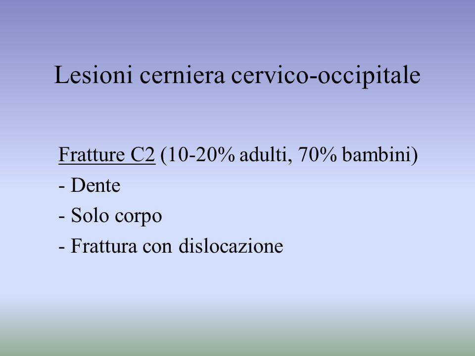 Lesioni cerniera cervico-occipitale