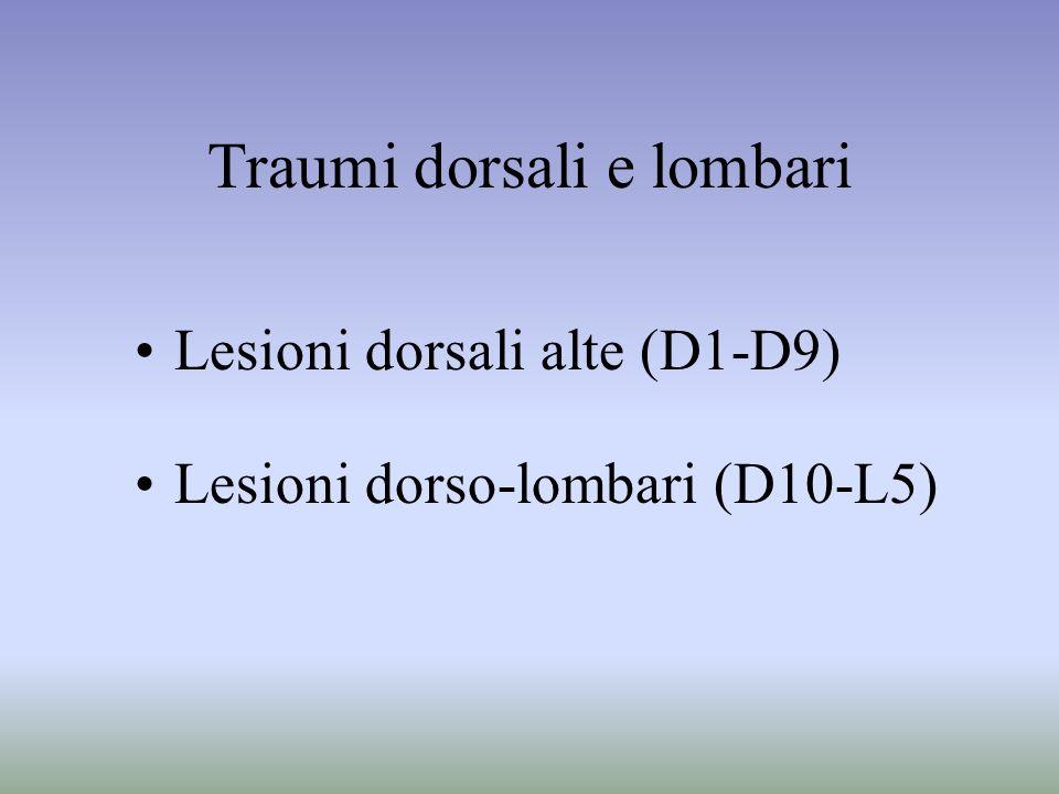 Traumi dorsali e lombari