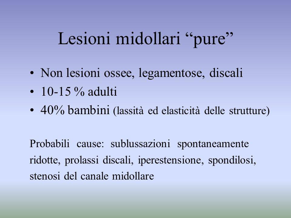 Lesioni midollari pure
