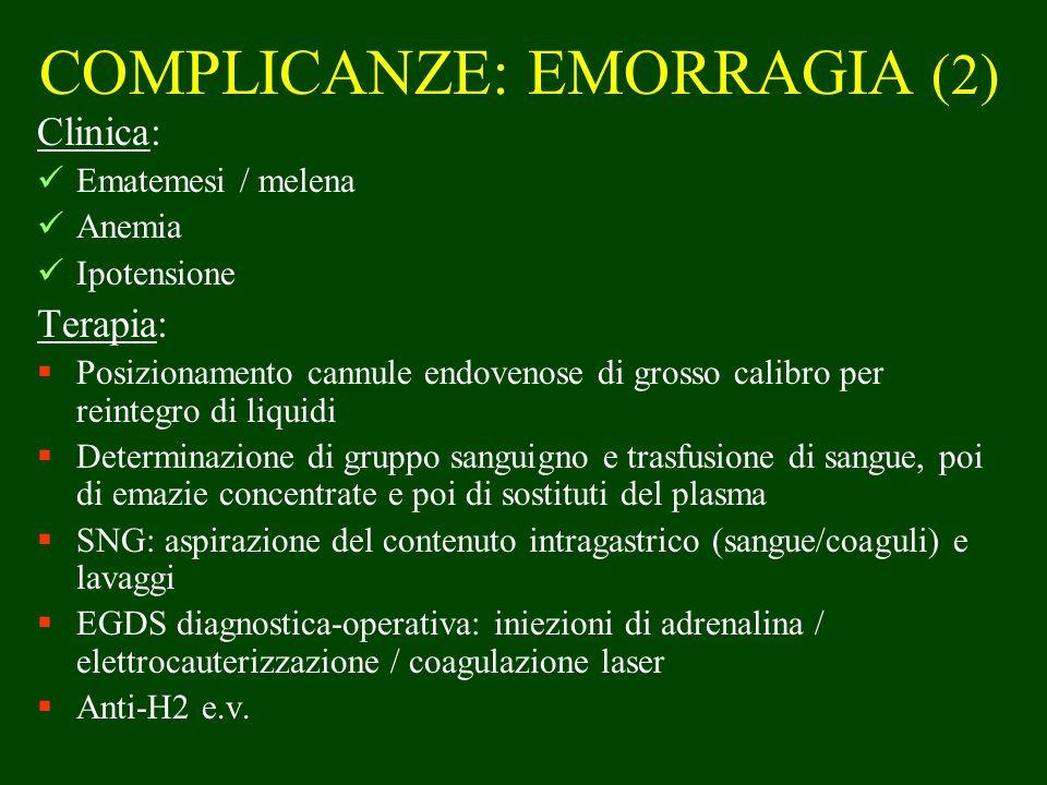 COMPLICANZE: EMORRAGIA (2)
