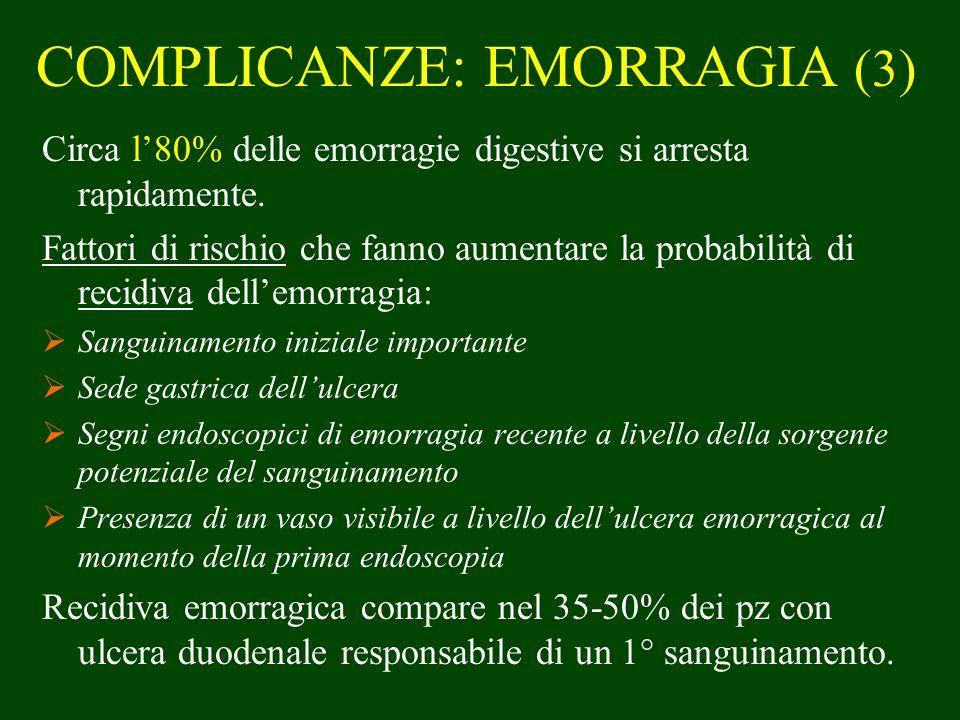 COMPLICANZE: EMORRAGIA (3)