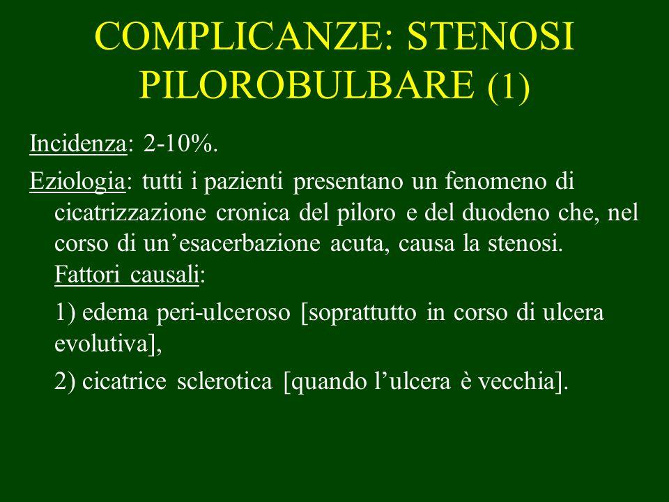 COMPLICANZE: STENOSI PILOROBULBARE (1)