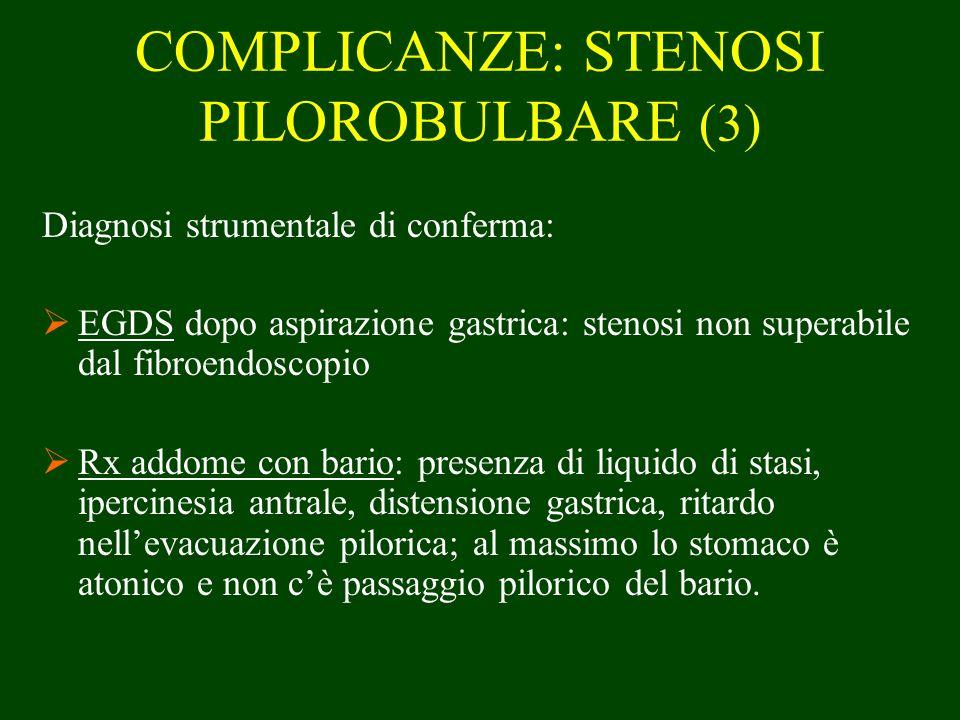 COMPLICANZE: STENOSI PILOROBULBARE (3)