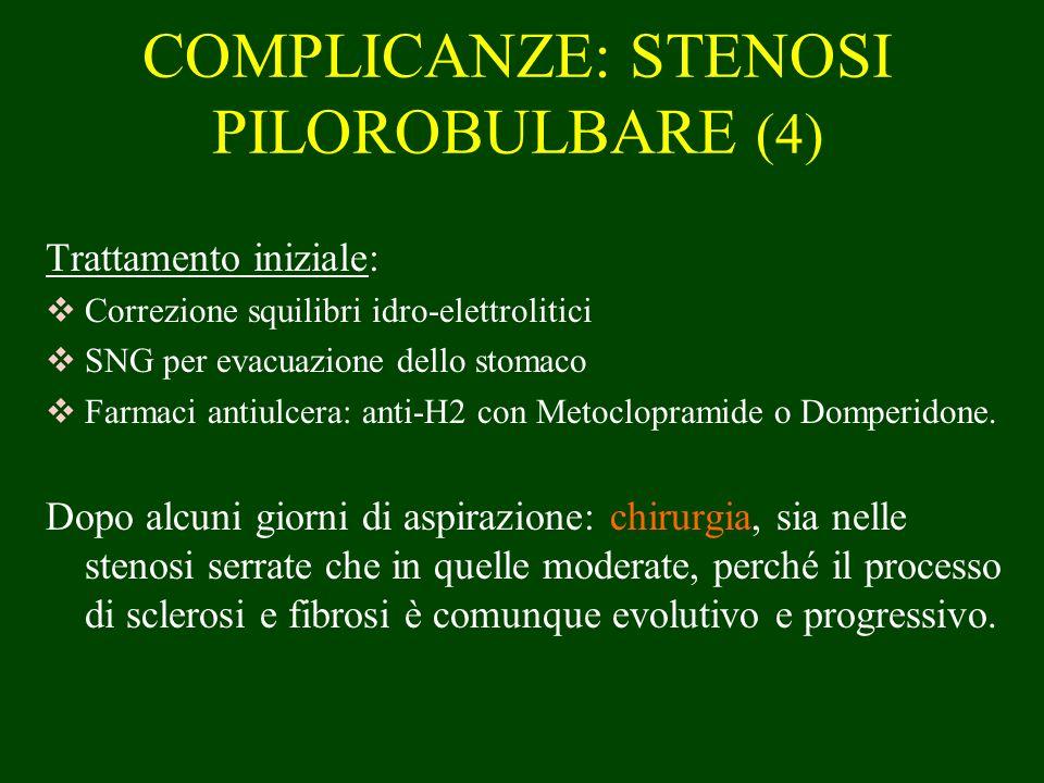 COMPLICANZE: STENOSI PILOROBULBARE (4)