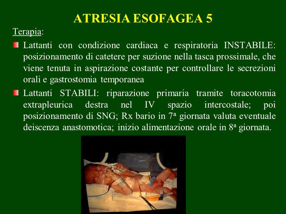ATRESIA ESOFAGEA 5 Terapia: