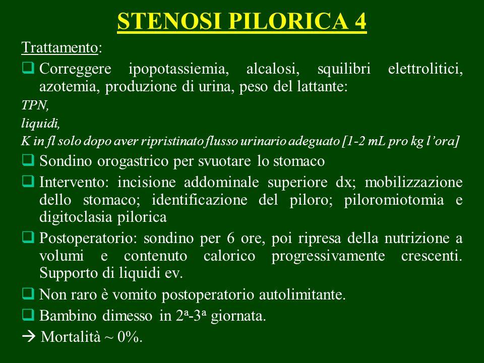 STENOSI PILORICA 4 Trattamento: