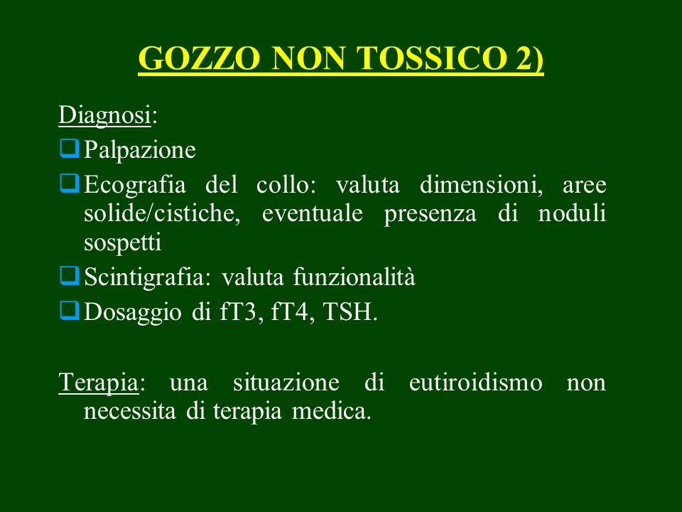 GOZZO NON TOSSICO 2) Diagnosi: Palpazione