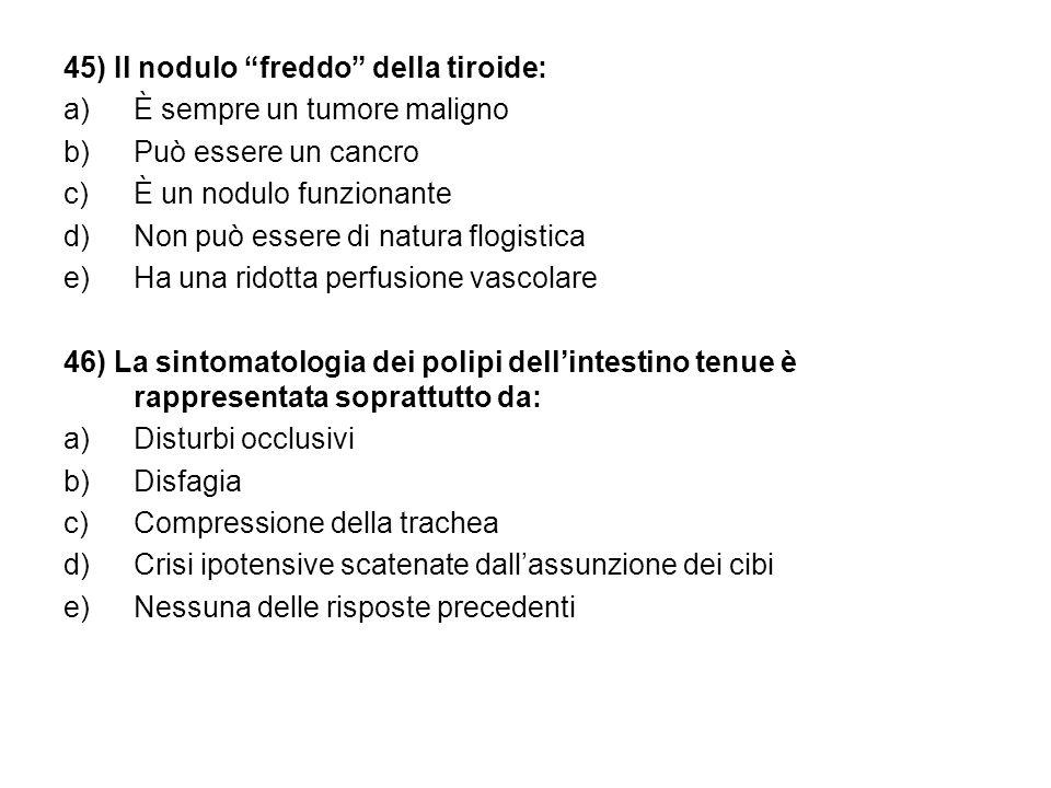 45) Il nodulo freddo della tiroide: