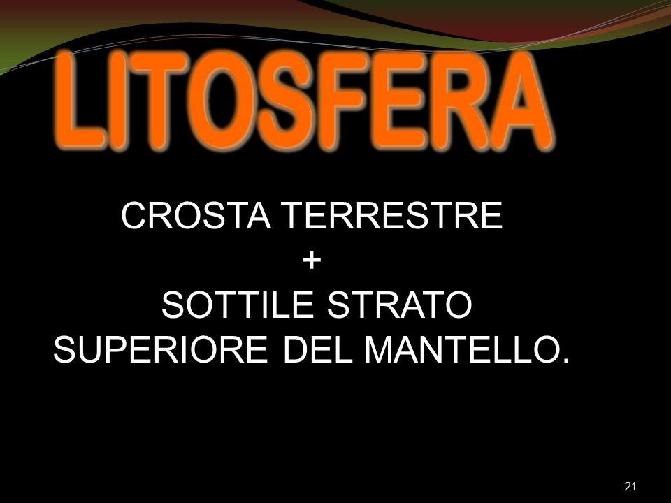 SOTTILE STRATO SUPERIORE DEL MANTELLO.