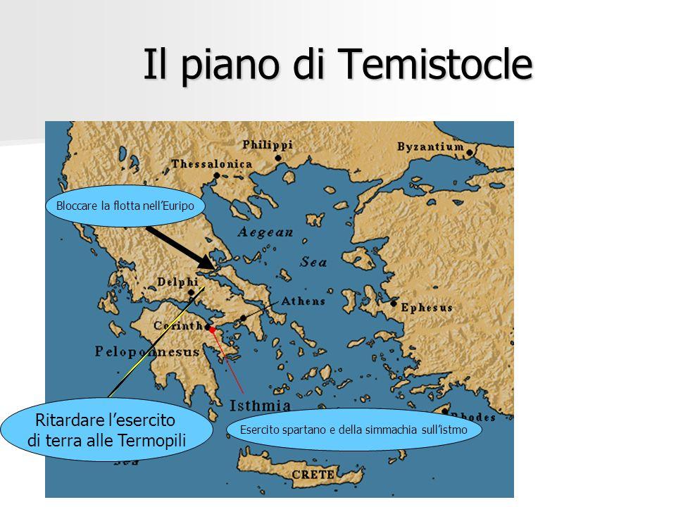 Il piano di Temistocle Ritardare l'esercito di terra alle Termopili