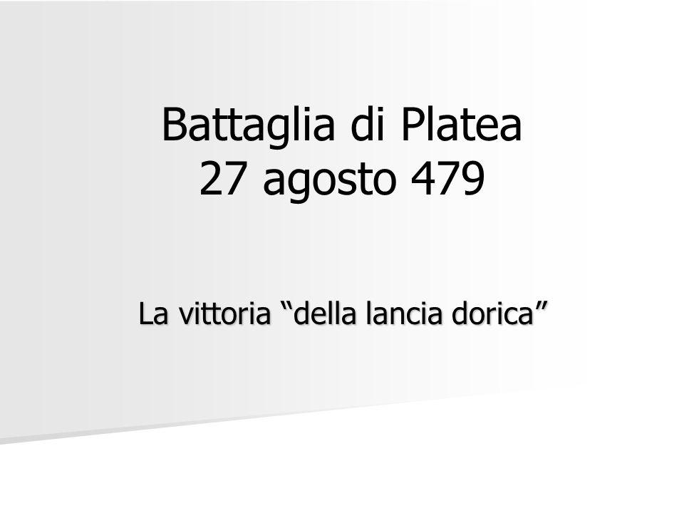 Battaglia di Platea 27 agosto 479